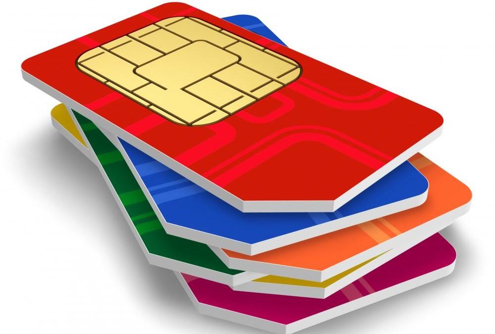Pile Of Technology Scrap Mobile Phone SIM Cards Destiny