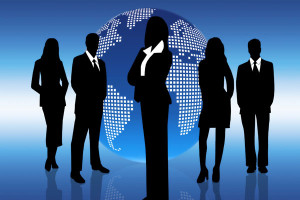 Business-people-globe-world-silhouette